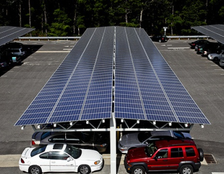Solar parking facility